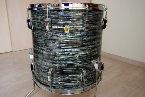 Ludwig 39 60s downbeat set oyster blue pearl 16 floor tom for 16x16 floor tom