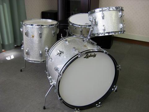 Ludwig Silver Sparkle Drum Set